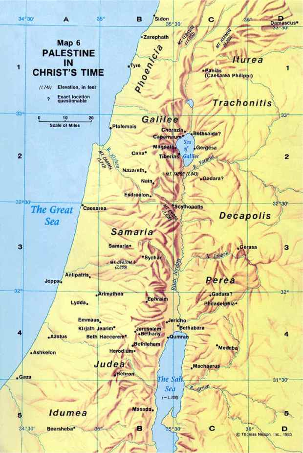israel jesus time map