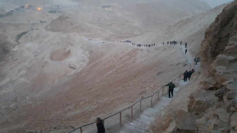 Climbing Masada Israel Priestwife